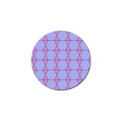 Demiregular Purple Line Triangle Golf Ball Marker (4 pack)