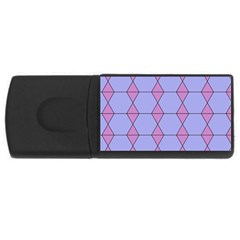 Demiregular Purple Line Triangle USB Flash Drive Rectangular (4 GB)