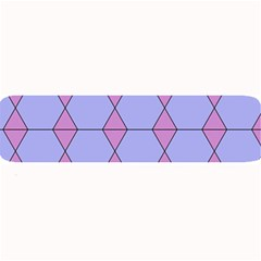 Demiregular Purple Line Triangle Large Bar Mats
