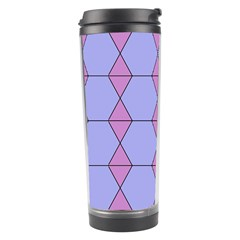 Demiregular Purple Line Triangle Travel Tumbler