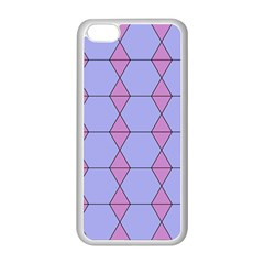 Demiregular Purple Line Triangle Apple iPhone 5C Seamless Case (White)