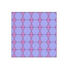 Demiregular Purple Line Triangle Satin Bandana Scarf