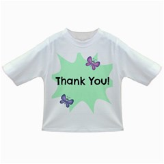 Colorful Butterfly Thank You Animals Fly White Green Infant/Toddler T-Shirts