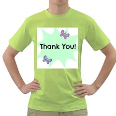 Colorful Butterfly Thank You Animals Fly White Green Green T-Shirt