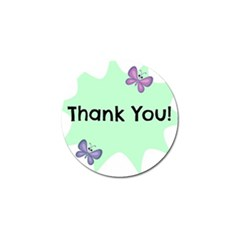 Colorful Butterfly Thank You Animals Fly White Green Golf Ball Marker
