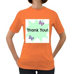 Colorful Butterfly Thank You Animals Fly White Green Women s Dark T-Shirt