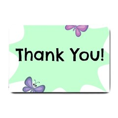 Colorful Butterfly Thank You Animals Fly White Green Small Doormat