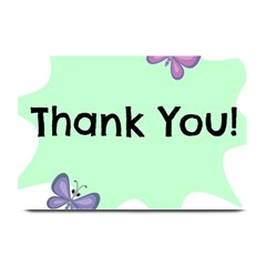 Colorful Butterfly Thank You Animals Fly White Green Plate Mats