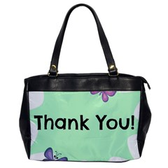 Colorful Butterfly Thank You Animals Fly White Green Office Handbags