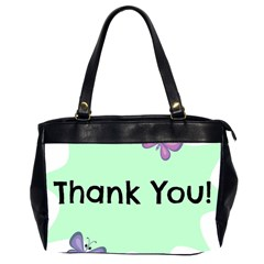 Colorful Butterfly Thank You Animals Fly White Green Office Handbags (2 Sides)