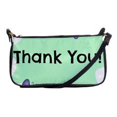 Colorful Butterfly Thank You Animals Fly White Green Shoulder Clutch Bags