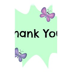 Colorful Butterfly Thank You Animals Fly White Green Shower Curtain 48  x 72  (Small)