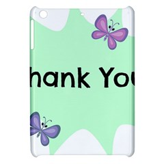 Colorful Butterfly Thank You Animals Fly White Green Apple iPad Mini Hardshell Case