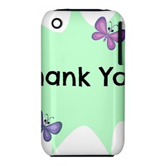 Colorful Butterfly Thank You Animals Fly White Green iPhone 3S/3GS
