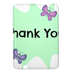 Colorful Butterfly Thank You Animals Fly White Green Kindle Fire HD 8.9