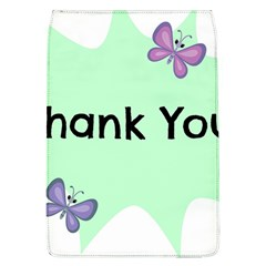 Colorful Butterfly Thank You Animals Fly White Green Flap Covers (L)