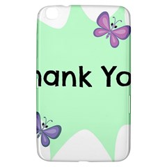 Colorful Butterfly Thank You Animals Fly White Green Samsung Galaxy Tab 3 (8 ) T3100 Hardshell Case