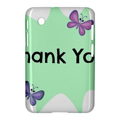 Colorful Butterfly Thank You Animals Fly White Green Samsung Galaxy Tab 2 (7 ) P3100 Hardshell Case