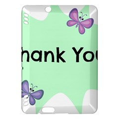 Colorful Butterfly Thank You Animals Fly White Green Kindle Fire HDX Hardshell Case