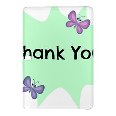 Colorful Butterfly Thank You Animals Fly White Green Samsung Galaxy Tab Pro 10.1 Hardshell Case
