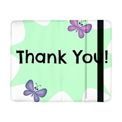 Colorful Butterfly Thank You Animals Fly White Green Samsung Galaxy Tab Pro 8.4  Flip Case