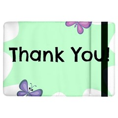 Colorful Butterfly Thank You Animals Fly White Green iPad Air Flip