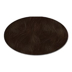 Bear Skin Animal Texture Brown Oval Magnet