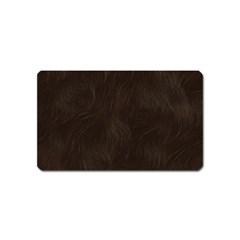 Bear Skin Animal Texture Brown Magnet (Name Card)