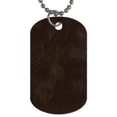 Bear Skin Animal Texture Brown Dog Tag (Two Sides)