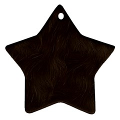 Bear Skin Animal Texture Brown Star Ornament (Two Sides)
