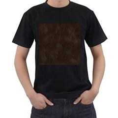 Bear Skin Animal Texture Brown Men s T-Shirt (Black)