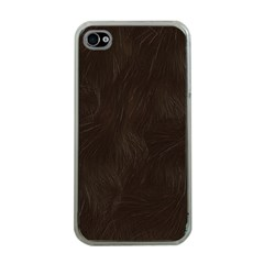 Bear Skin Animal Texture Brown Apple iPhone 4 Case (Clear)