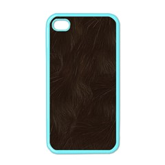 Bear Skin Animal Texture Brown Apple iPhone 4 Case (Color)