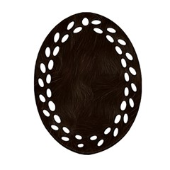 Bear Skin Animal Texture Brown Oval Filigree Ornament (Two Sides)