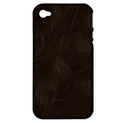 Bear Skin Animal Texture Brown Apple iPhone 4/4S Hardshell Case (PC+Silicone)