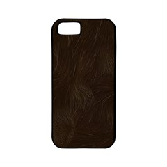 Bear Skin Animal Texture Brown Apple iPhone 5 Classic Hardshell Case (PC+Silicone)