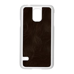 Bear Skin Animal Texture Brown Samsung Galaxy S5 Case (White)