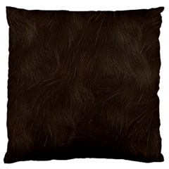 Bear Skin Animal Texture Brown Large Flano Cushion Case (One Side)
