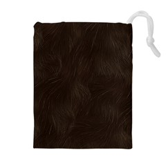 Bear Skin Animal Texture Brown Drawstring Pouches (Extra Large)