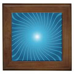 Dreams Sun Blue Wave Framed Tiles