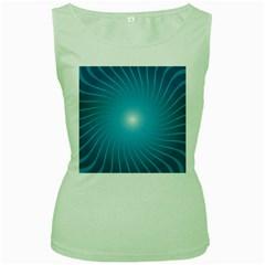 Dreams Sun Blue Wave Women s Green Tank Top