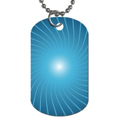 Dreams Sun Blue Wave Dog Tag (Two Sides)