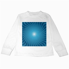 Dreams Sun Blue Wave Kids Long Sleeve T Shirts