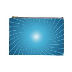 Dreams Sun Blue Wave Cosmetic Bag (Large)