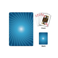 Dreams Sun Blue Wave Playing Cards (Mini)
