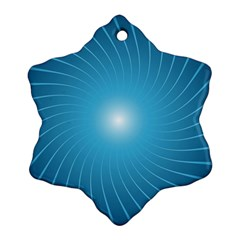 Dreams Sun Blue Wave Ornament (Snowflake)