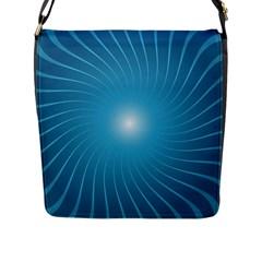 Dreams Sun Blue Wave Flap Messenger Bag (L)