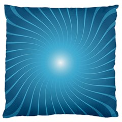 Dreams Sun Blue Wave Large Flano Cushion Case (One Side)
