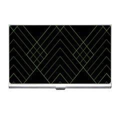 Diamond Green Triangle Line Black Chevron Wave Business Card Holders