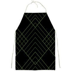 Diamond Green Triangle Line Black Chevron Wave Full Print Aprons